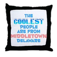 Coolest: Middletown, DE Throw Pillow
