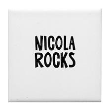 Nicola Rocks Tile Coaster