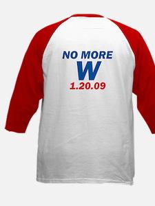 No More W 1.20.09 Bush's Last Kids Baseball Jersey