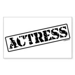 Actress Stamp Rectangle Sticker