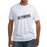 Actress Stamp Fitted T-Shirt