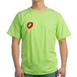 A Kiss For You Green T-Shirt
