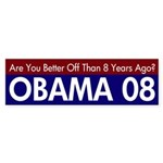 Are You Better Off? Obama 08 Decal