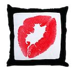 Big Kiss Throw Pillow