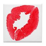 Big Kiss Tile Coaster