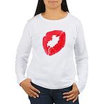 Big Kiss Women's Long Sleeve T-Shirt