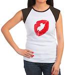 Big Kiss Women's Cap Sleeve T-Shirt