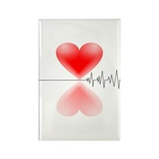 Heart Beat<br> Rectangle Magnet