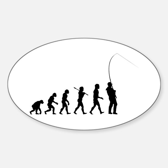 Fishing Oval Decal