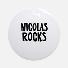 Nicolas Rocks Ornament (Round)