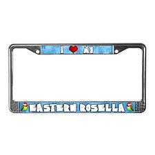 Crtn I Love my Eastern Rosella License Plate Frame