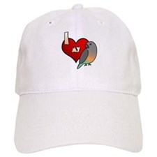 I Love my Red-Bellied Parrot Hat (Cartoon)
