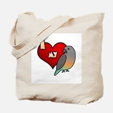 I Love my Red-Bellied Parrot Tote Bag (Cartoon)