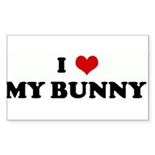 I Love MY BUNNY Rectangle Decal