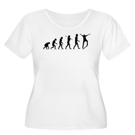 Skateboarding Women's Plus Size Scoop Neck T-Shirt