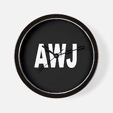 AWJ Wall Clock
