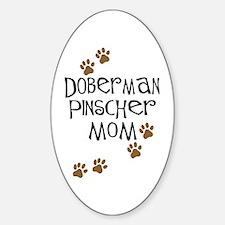 Doberman Pinscher Mom Oval Decal