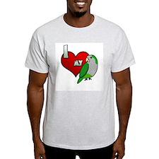 I Love my Quaker Parakeet T-Shirt