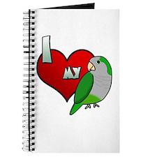 I Love my Quaker Parakeet Journal
