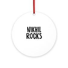 Nikhil Rocks Ornament (Round)