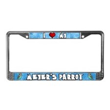 Cartoon I Love Meyer's Parrot License Plate Frame