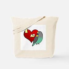 I Love my Meyer's Parrot Tote Bag (Cartoon)
