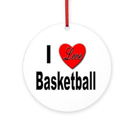 I Love Basketball Keepsake (Round)