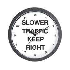 Slower Traffic Wall Clock