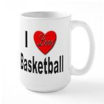 I Love Basketball Large Mug