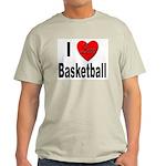 I Love Basketball (Front) Ash Grey T-Shirt