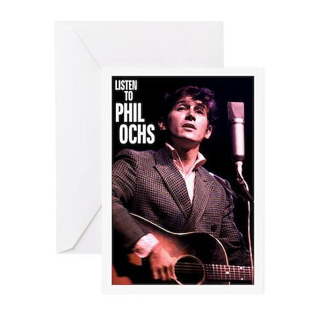 Phil Ochs Blank Greeting Cards (Pk of 10)