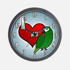 I Love my Hahn's Macaw Clock (Cartoon)