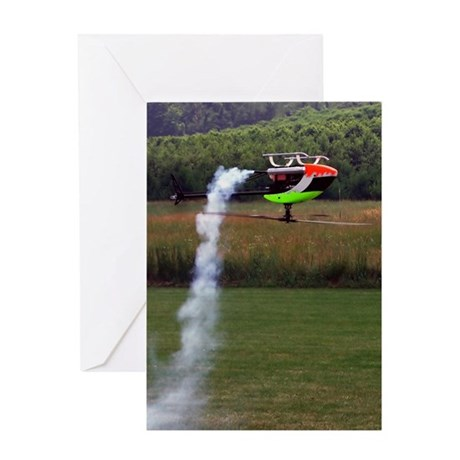 Inverted RC Helicopter Greeting Card