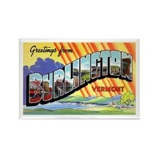 Burlington Vermont Greetings Rectangle Magnet
