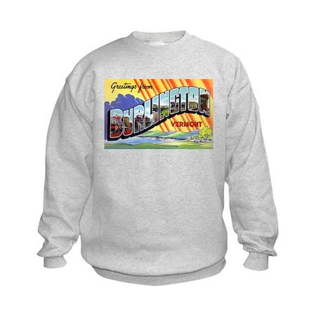 Burlington Vermont Greetings Kids Sweatshirt