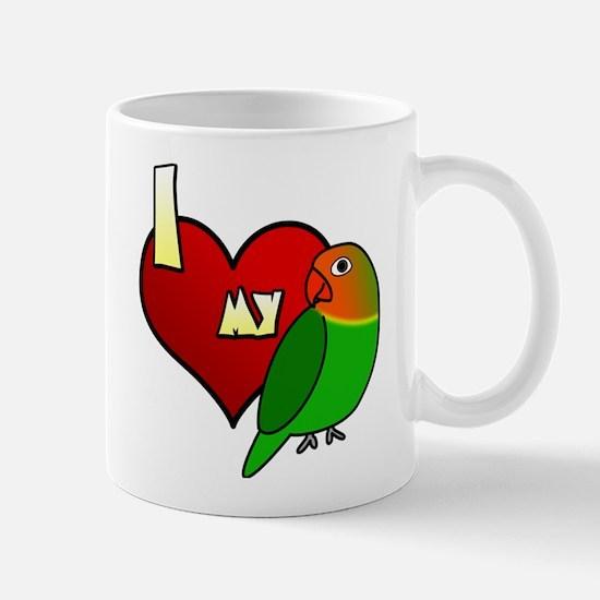 I Love my Fischer's Lovebird Mug (Cartoon)