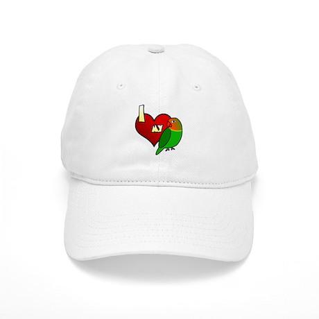 I Love my Fischer's Lovebird Hat (Cartoon)