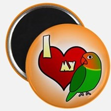 I Love my Fischer's Lovebird Magnet (Cartoon)