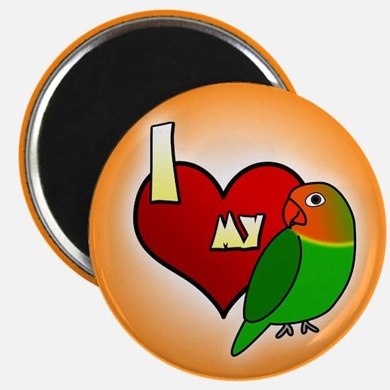 I Love my Fischer's Lovebird Magnet (Cartoon)