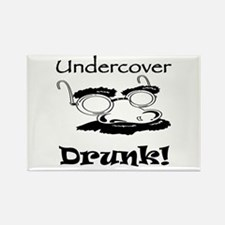 Undercover Drunk Rectangle Magnet
