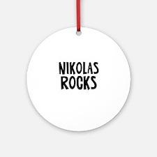 Nikolas Rocks Ornament (Round)