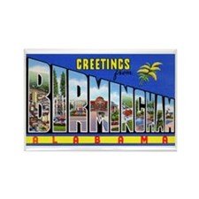 Birmingham Alabama Greetings Rectangle Magnet