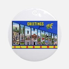 Birmingham Alabama Greetings Ornament (Round)