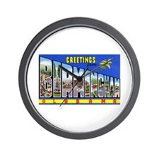 Birmingham Alabama Greetings Wall Clock