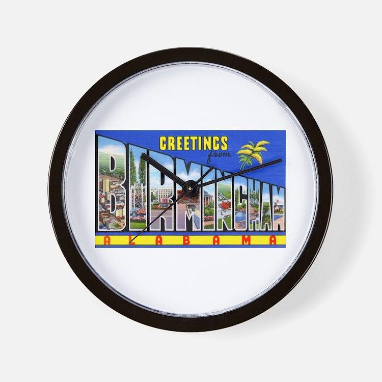 Birmingham Alabama Greetings Wall Clock