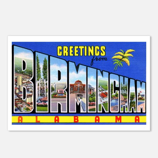 Birmingham Alabama Greetings Postcards (Package of