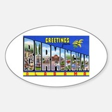 Birmingham Alabama Greetings Oval Decal