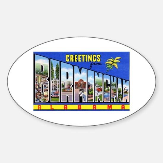 Birmingham Alabama Greetings Oval Decal