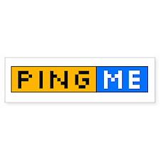 Ping Me Button Bumper Bumper Sticker
