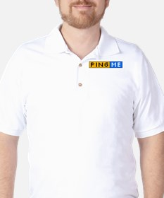 Ping Me Button T-Shirt